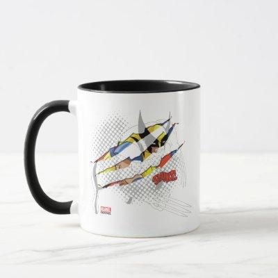 Classic X-Men | Wolverine Sliced Color Graphic Mug