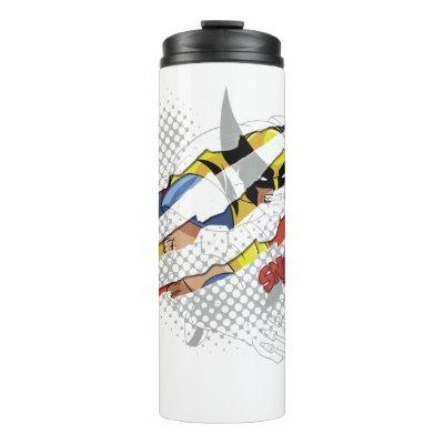 Classic X-Men | Wolverine Sliced Color Graphic Thermal Tumbler