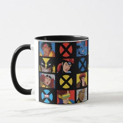 Classic X-Men | X-Men Hero Character Grid Mug