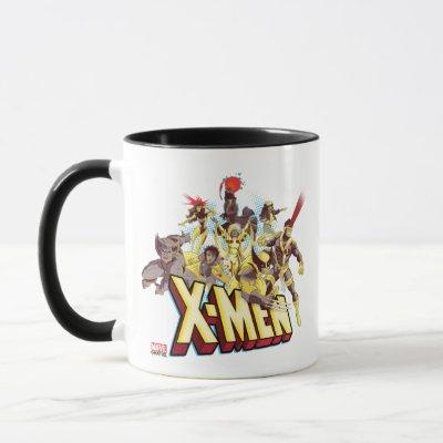 Classic X-Men | X-Men Team With Logo Mug
