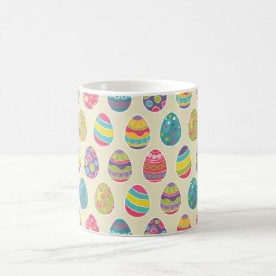Classy Retro Easter Eggs Happy Easter Day Coffee Mug