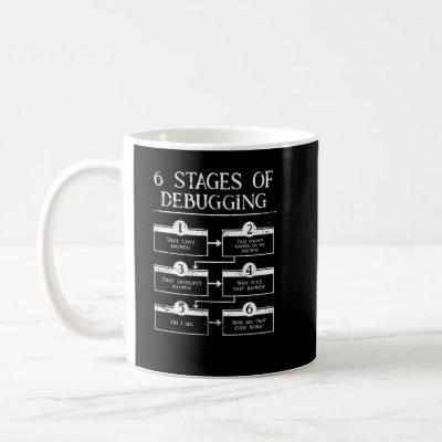Coding 6 Stages Of Debugging Computer Programming Coffee Mug