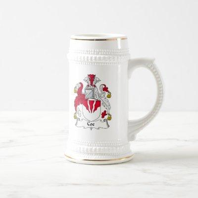 Coe Family Crest Beer Stein