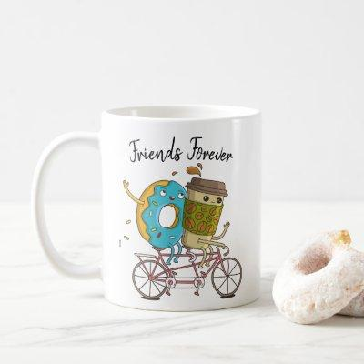 Coffee and Donut Friends Forever Mug