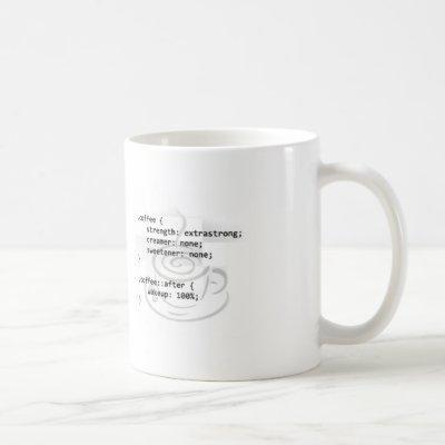 Coffee CSS developer funny Coffee Mug