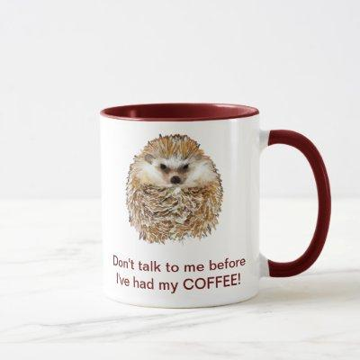 Coffee Hedgehog Mug