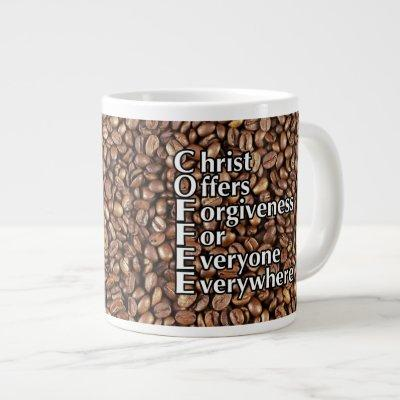 "Coffee Mug 20 Oz ""Christ Offers Forgiveness Revers"