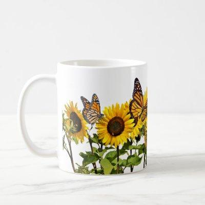 Coffee Mug Monarch Sunflowers