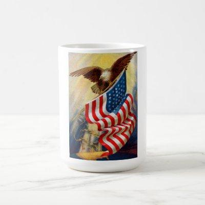 Coffee Mug w/ EAGLE DEFENDING LIBERTY