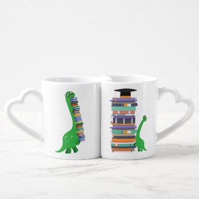 Coffee Mugs Set Busy Book Lover Couple