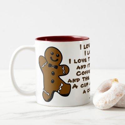 Coffee & Tea, Java & Me Gingerbread Man Mug