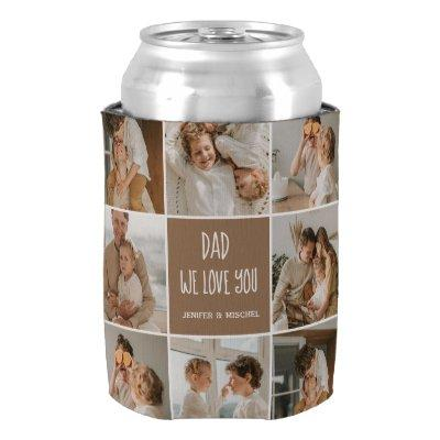 Collage Photo Dad We Love You Happy Fathers Day Can Cooler