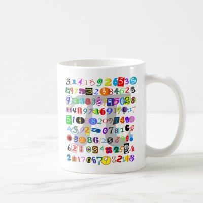 Colorful and Fun Depiction of Pi Coffee Mug