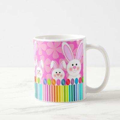 Colorful Easter Bunny and Eggs Mug