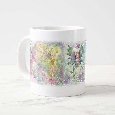 Colorful Flower Fairies Jumbo Mug