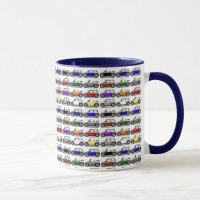 Colorful Mini Cooper Coffee Mug