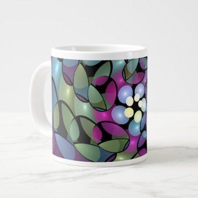 Colorful Movements Abstract Striking Fractal Art Giant Coffee Mug
