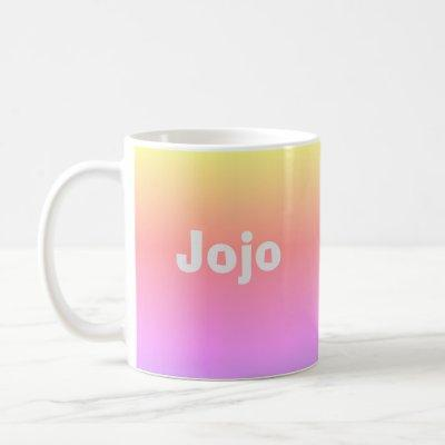 Colorful Ombre 4Jojo Coffee Mug
