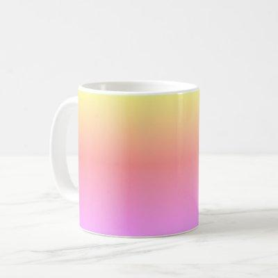 Colorful Ombré Rainbow Pink Purple 4Jane Coffee Mug