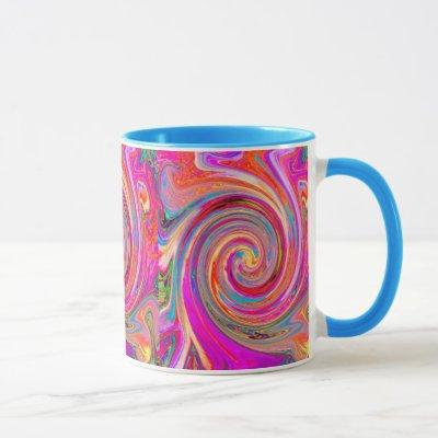 Colorful Rainbow Swirl Retro Abstract Design Mug