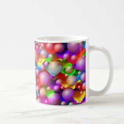 Colourful Hearts Coffee Mug