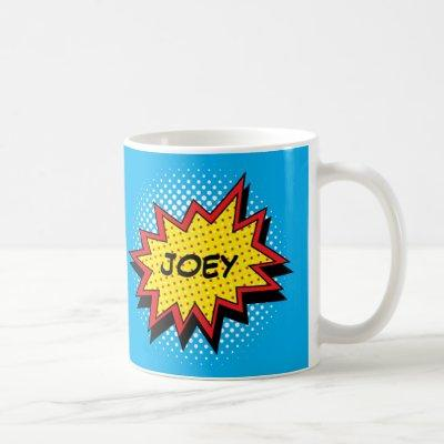 Comic Book Style Colorful Custom Name Coffee Mug