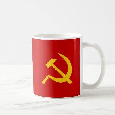 Communist USSR Russian Hammer and Sickle Coffee Mug