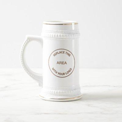 Company Logo Employee Name Promotional Beer Stein