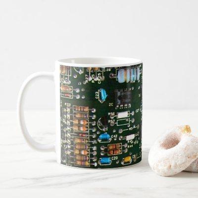 Computer Electronics Printed Circuit Board Image Coffee Mug