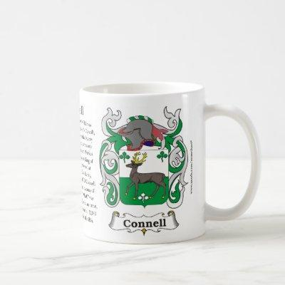 Connell, the Origin, the Meaning and the Crest on Coffee Mug