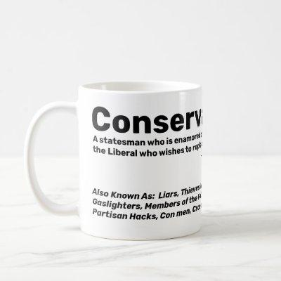Conservative coffee mug