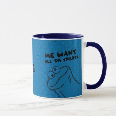 Cookie Monster - All 'Da Treats! | Add Your Name Mug
