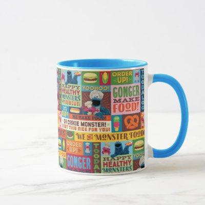 Cookie Monster's Foodie Truck Pattern Mug