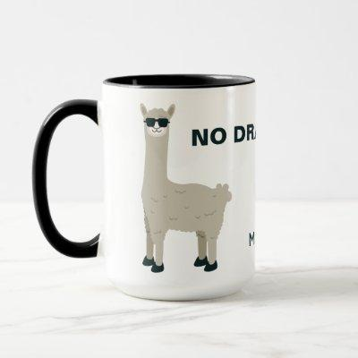 Cool Llama custom name & text mugs