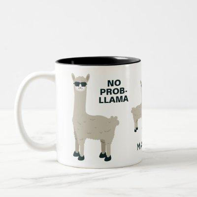 Cool LlamaS custom name & text mugs