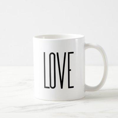 Cool Love – Minimalist Graphic Design Coffee Mug