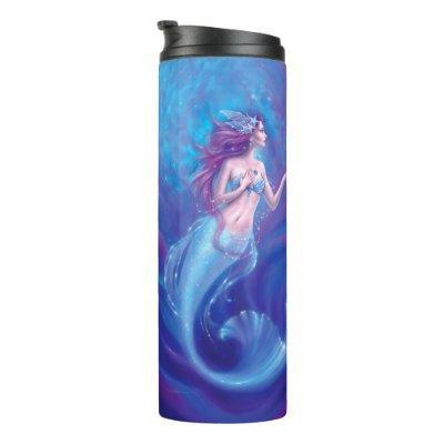 Coral - Mermaid and Seahorse Thermal Tumbler