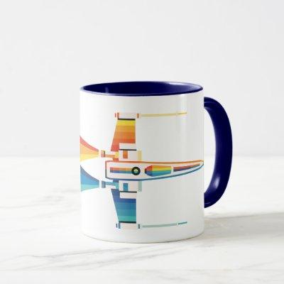 Cosmic Rainbow X-Wing Starfighter Mug