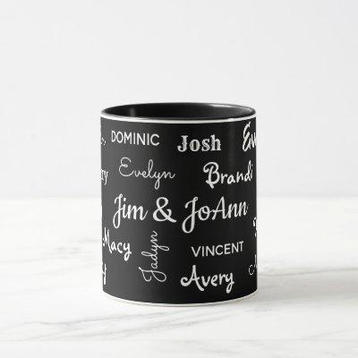 Couples Name w/Children & Grandchildren Names Mug