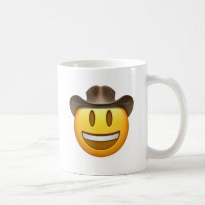 Cowboy emoji face coffee mug