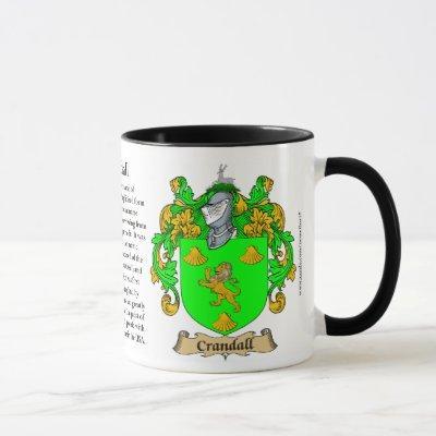 Crandall Family Coat of Arms Mug