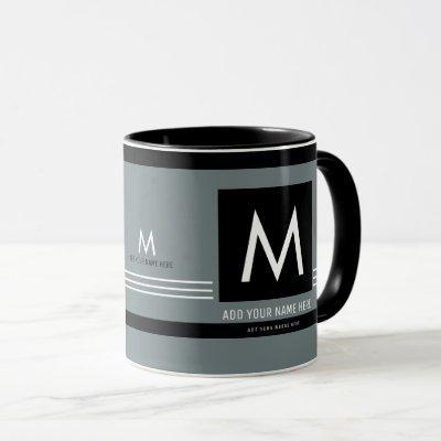 create a cool & modern monogram mug