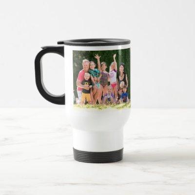 Create Custom Personalized Photo Text White Steel Travel Mug