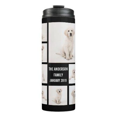 Create Family Photography Photo Collage 8 Photos Thermal Tumbler