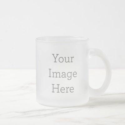 Create Your Own 10oz Frosted Glass Coffee Mug
