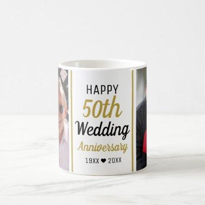 Create Your Own 2 Photo 50th Wedding Anniversary Coffee Mug