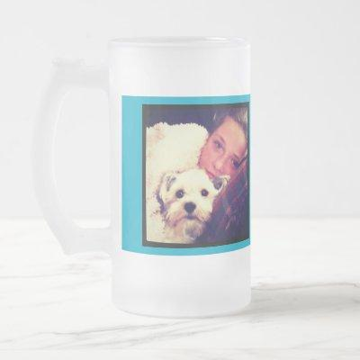 Create Your Own Custom Instagram Art Frosted Glass Beer Mug
