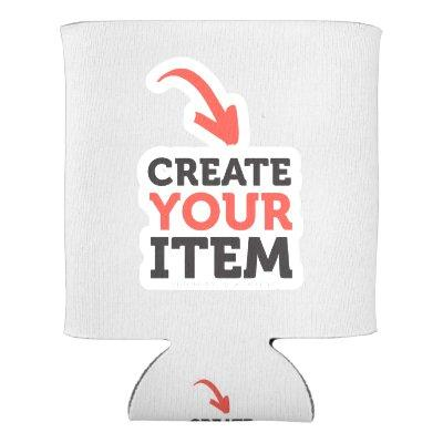 CREATE-YOUR-OWN DIY Custom upload design Bachelor Can Cooler