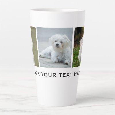 Create your Own Family Dog Photo Latte Mug