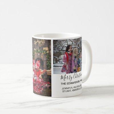 Create your own family photo collage Christmas Coffee Mug